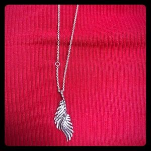 Pandora Angel Wing Necklace Sterling Silver Cz